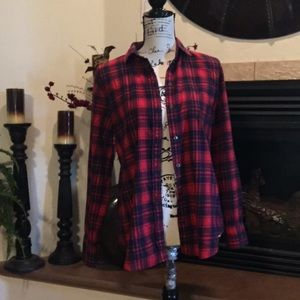 J. Crew boy fit button down top size small flannel